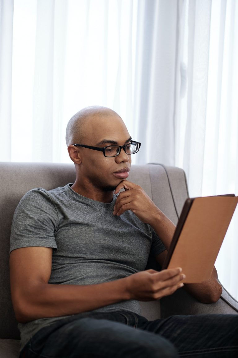 Reading young Black man