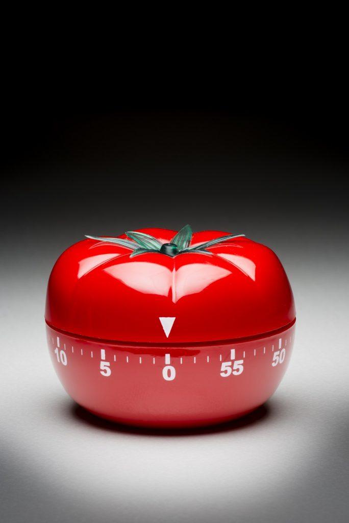 Tomato timer to fight procrastination.